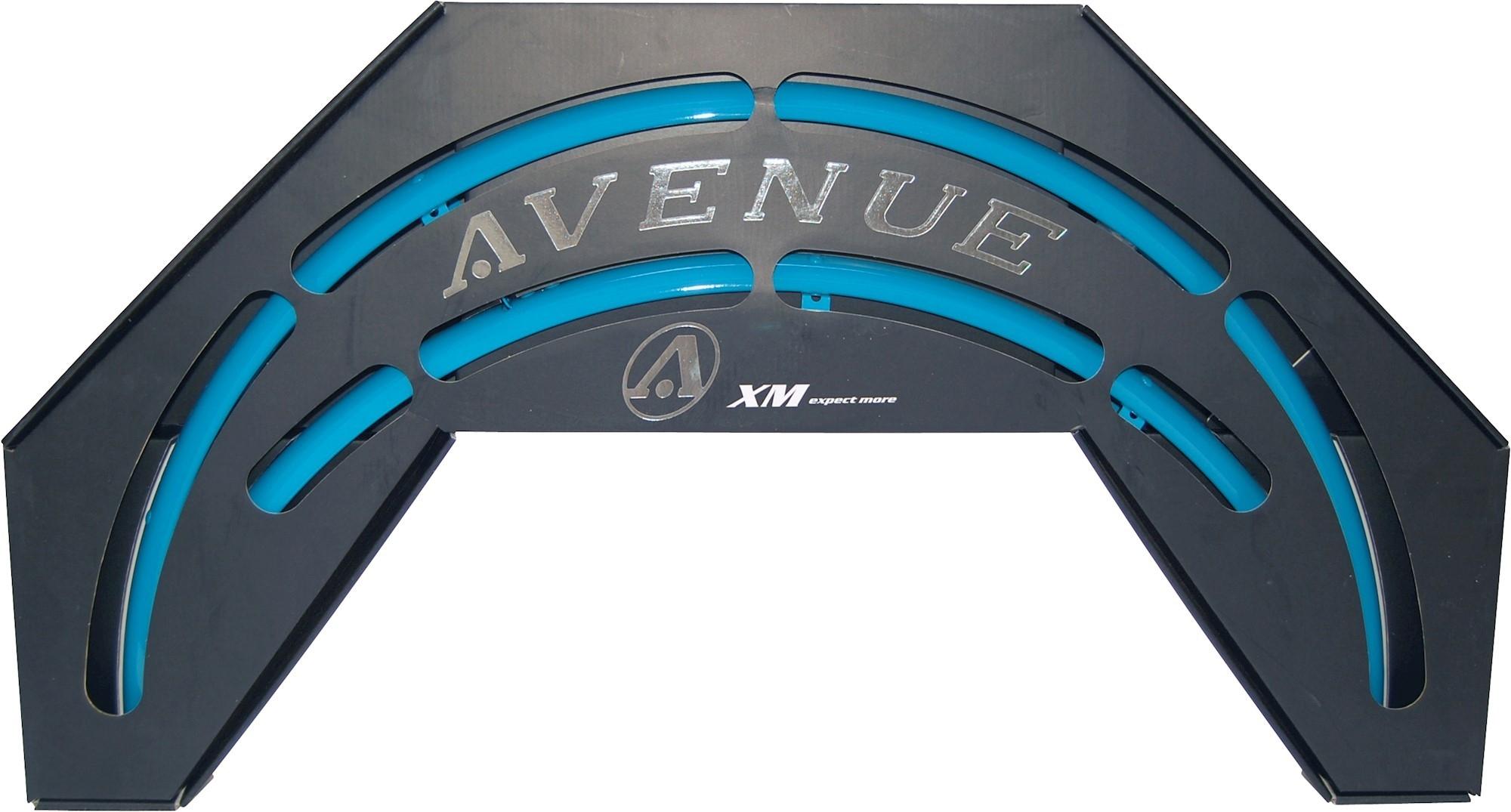 Skærmsæt Avenue TrendBlue Shiny 35mm alu med dobbeltstivere