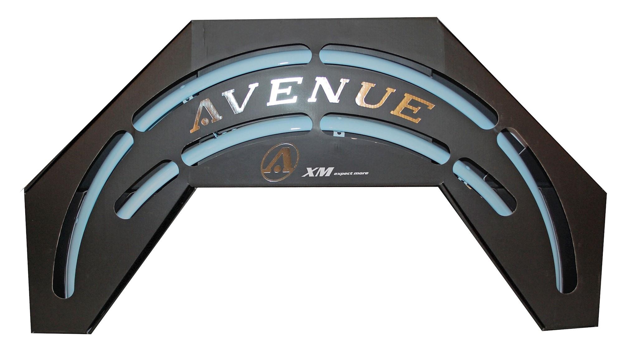 Skærmsæt Avenue Sky Blue 35mm med dobbelt stivere