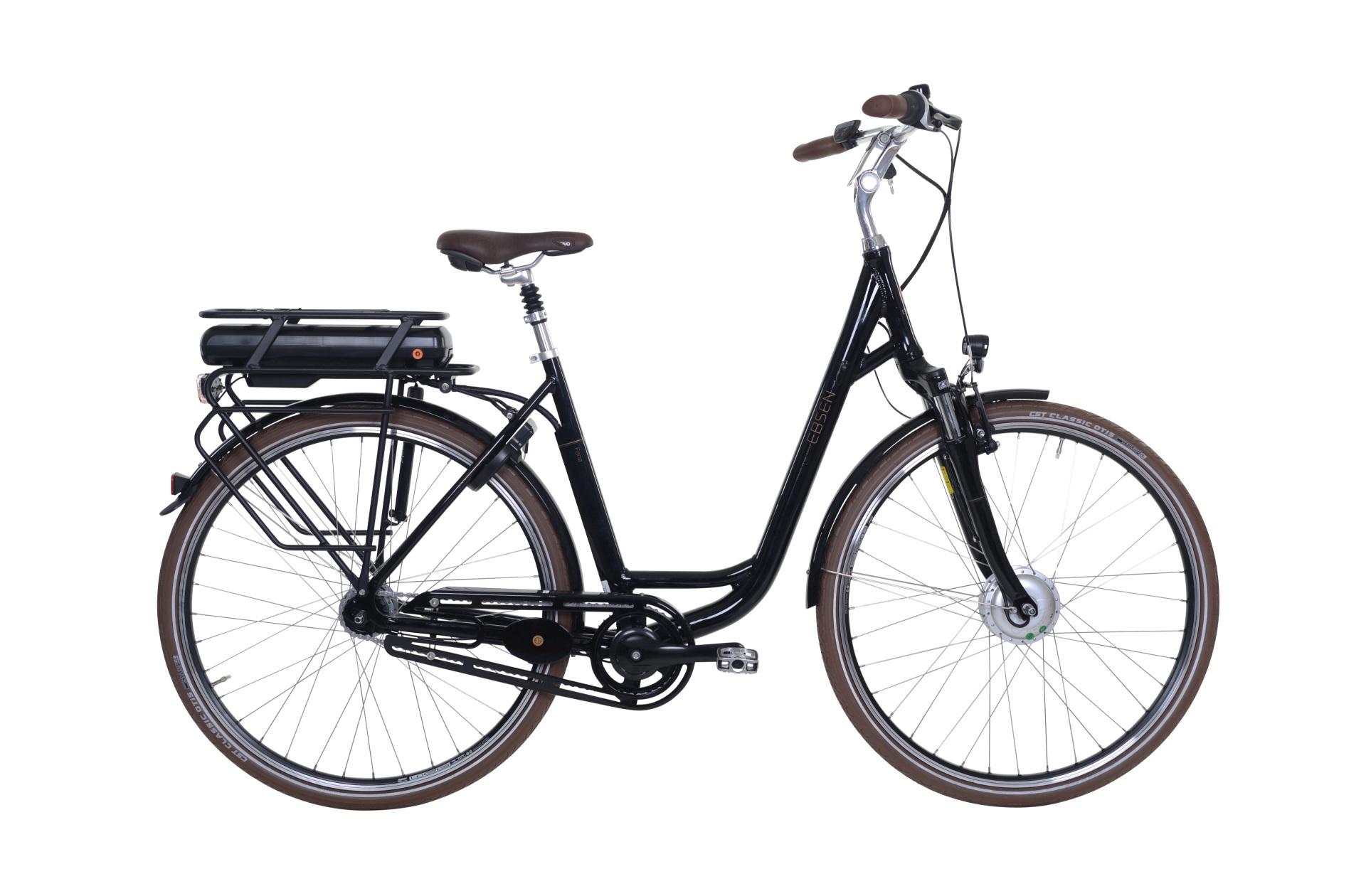 Ebsen Fanø Deep Dame Elcykel 7 Gear Sort 53Cm - 2019