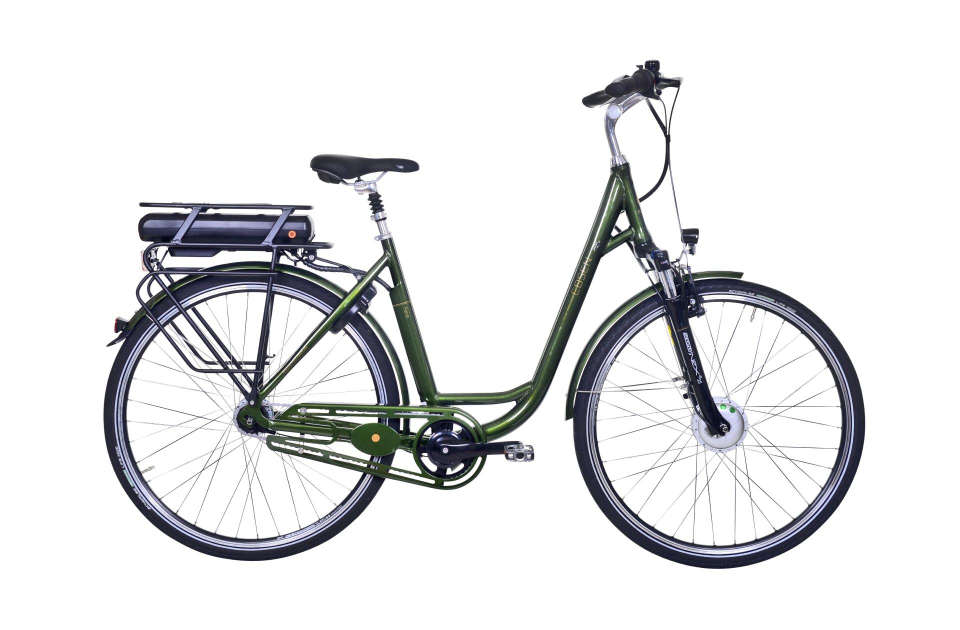 Image of Ebsen Fanø Deep Dame Elcykel 7 Gear Grøn 53cm - 2019
