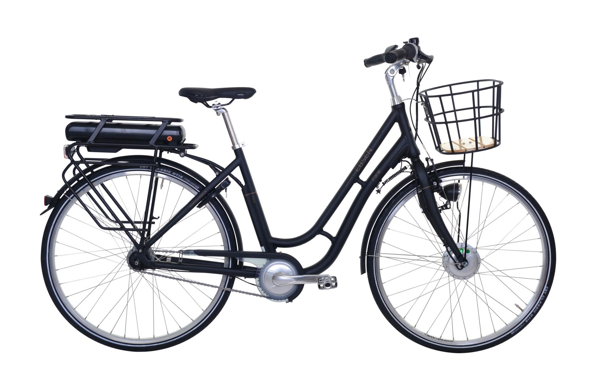 Ebsen Fanø Retro Dame Elcykel 7 Gear Matsort 50Cm - 2019 Mærker