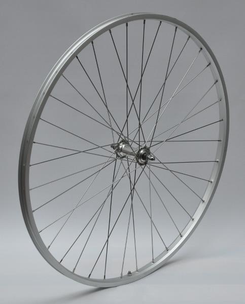 Image of Forhjul 700C - Sølv enkeltbundet, Møtrik