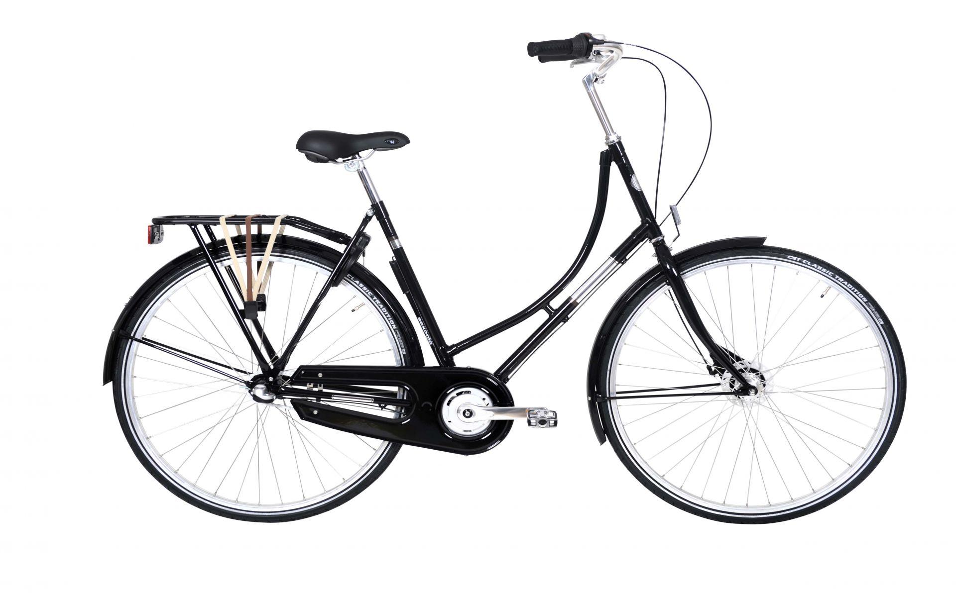 Image of Ebsen Rotterdam Nostalgi Dame 3 Gear 55cm - Sort