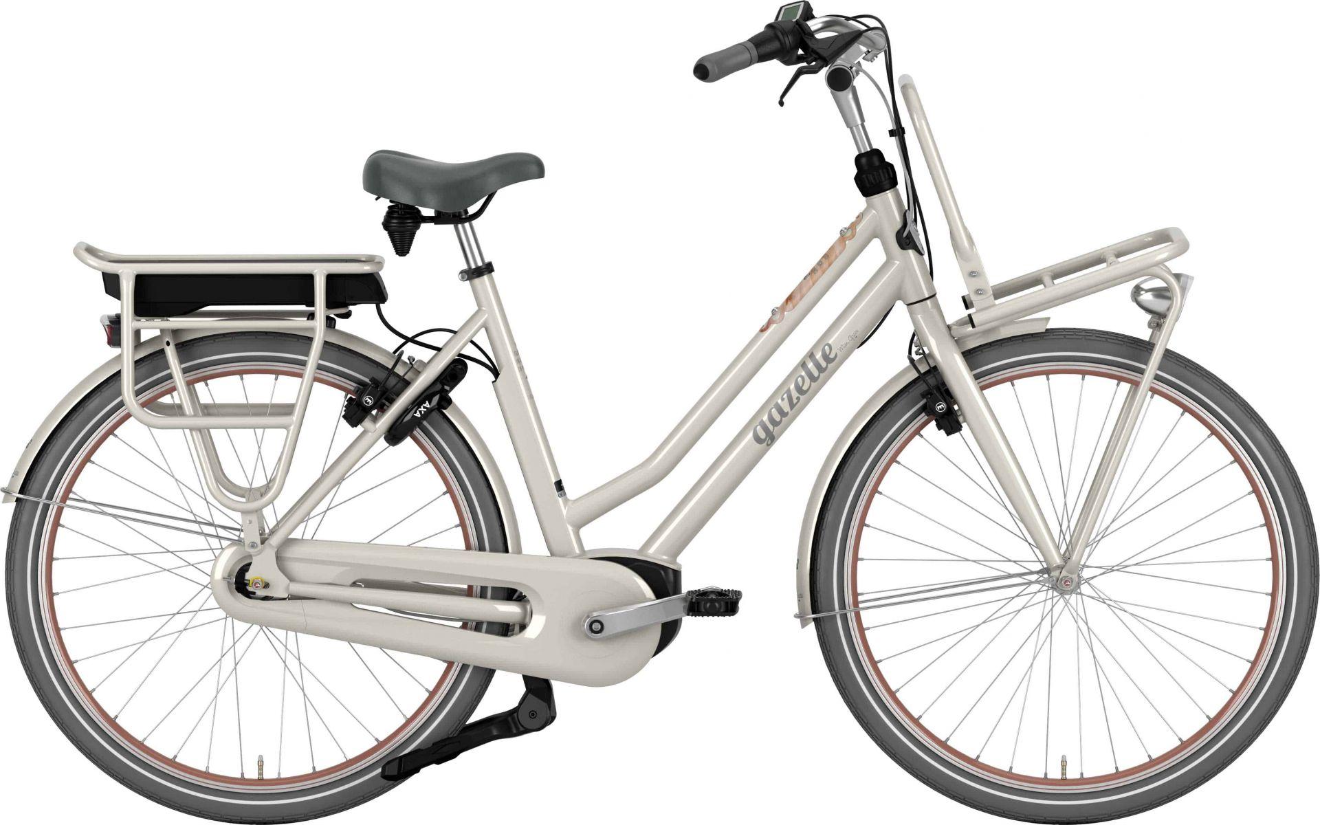 Gazelle Miss Grace C7 Hmb Dame Ivory - 2020 Cykler||Gazelle||Gazelle Elcykler