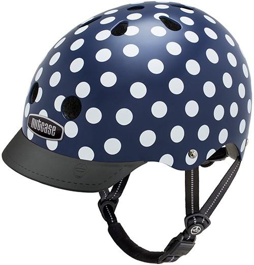 Pedalatleten Cykelhjelm Nutcase Gen3 Street - Navy Dots Cyber Monday  Tilbehør & Udstyr  Nutcase Cykelhjelme - Spar 20%!