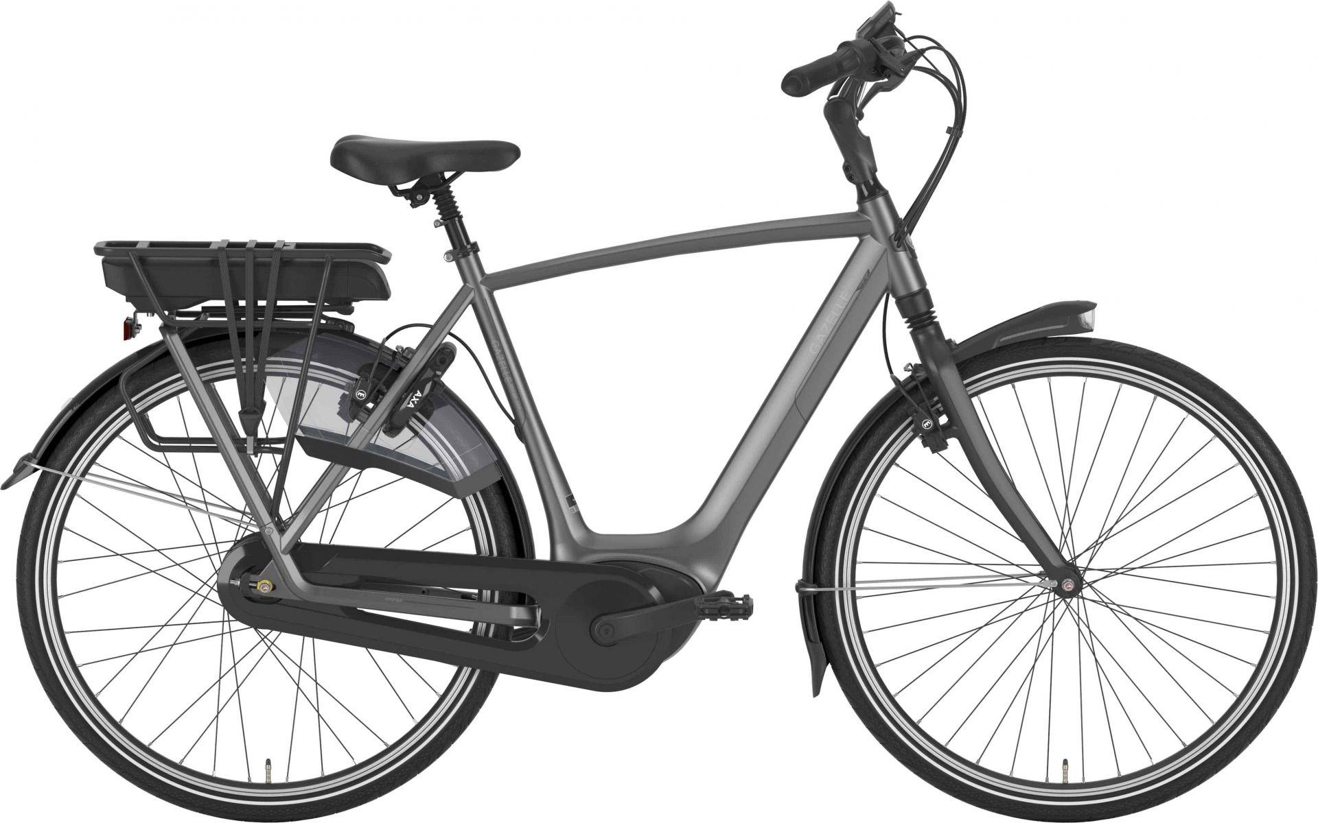 Pedalatleten Gazelle Orange C310 Hmb Herre Aluminum Grey - 2020 Cykler||Gazelle||Gazelle Elcykler