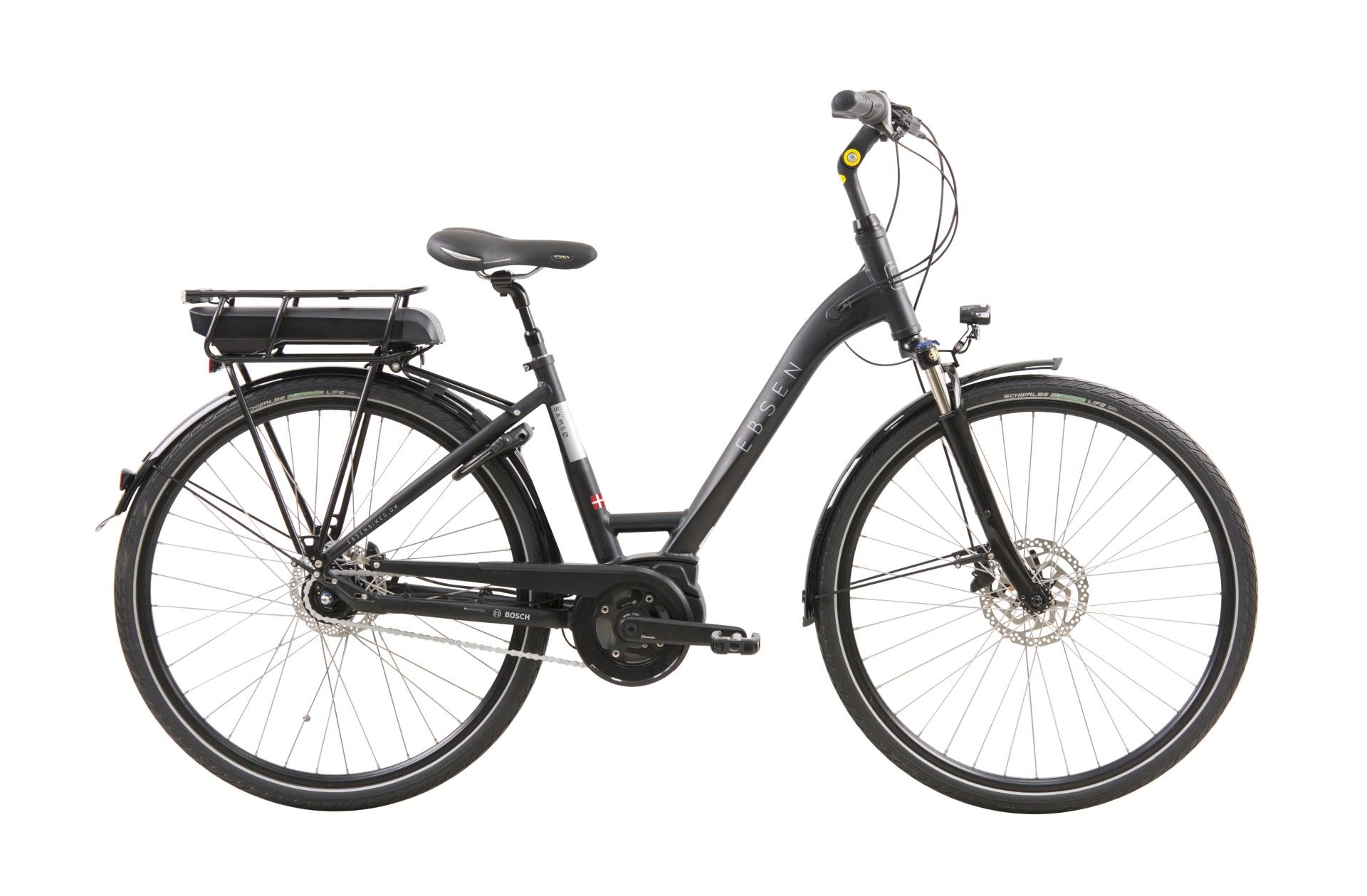 Image of Ebsen Samsø Bosch Centermotor Dame Elcykel Matsort 50cm - 2019