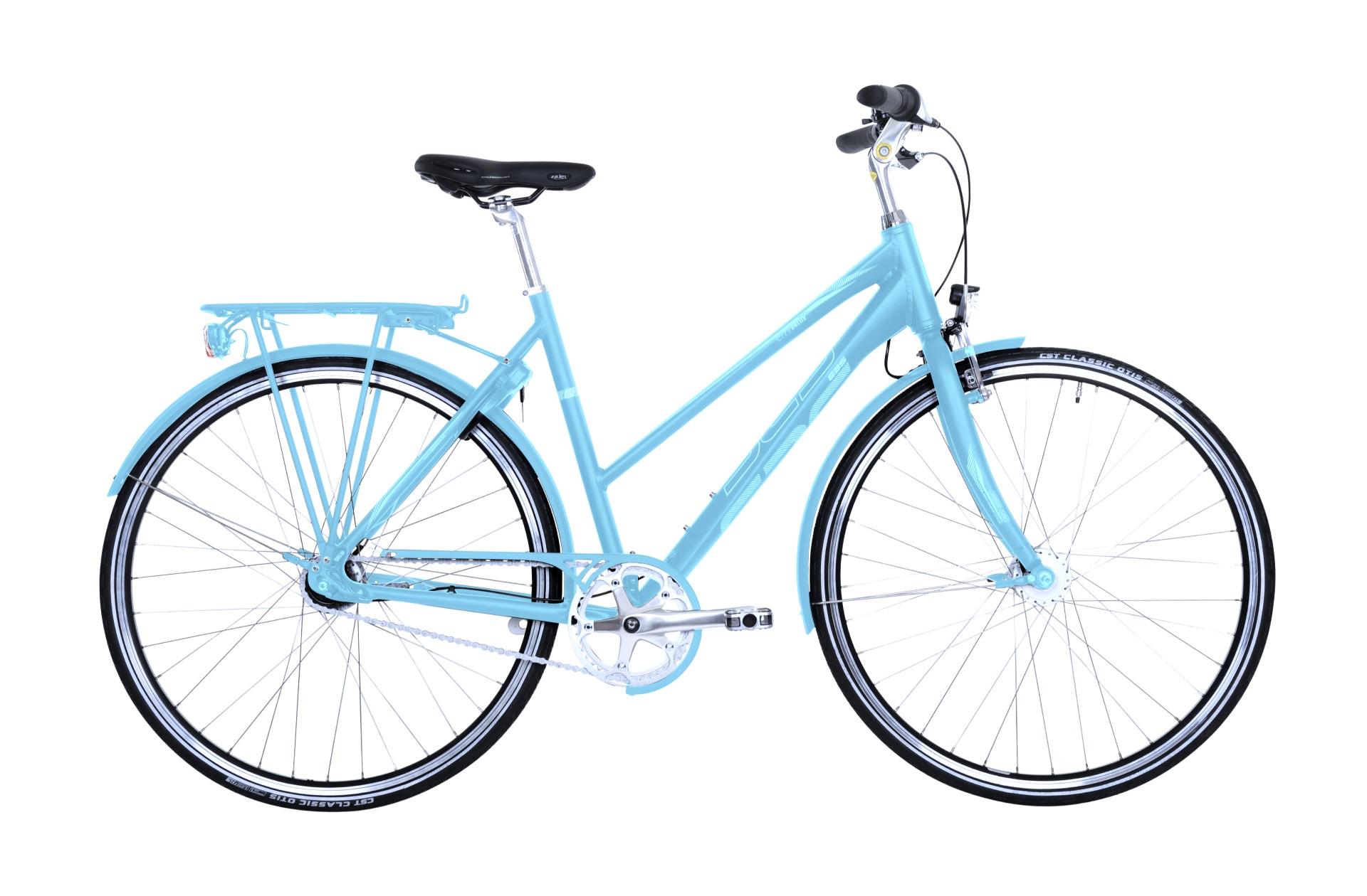 Ebsen Street Trend Pro Dame 7 Gear Blå 52Cm - 2019 Cykler