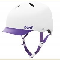 Cykelhjelm Bern Lenox Mat Hvid Lilla Skygge