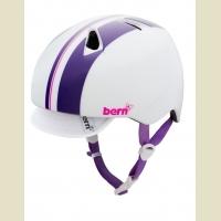 Cykelhjelm Bern Nina White/Purple Racing Stripe 48-51cm