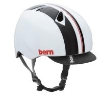 Cykelhjelm Bern Nino Gloss White Racing Stripe 48-51cm