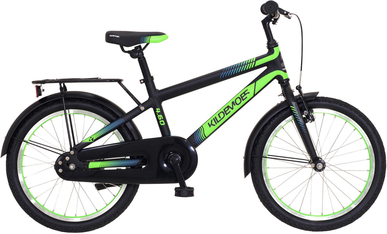 "Kildemoes Bikerz Dreng 18"" Soft Black W. Green - 2020"