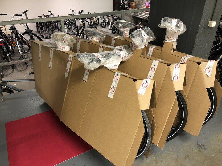 Pedalatleten cykler indpakket forsvarligt i godkendt emballage