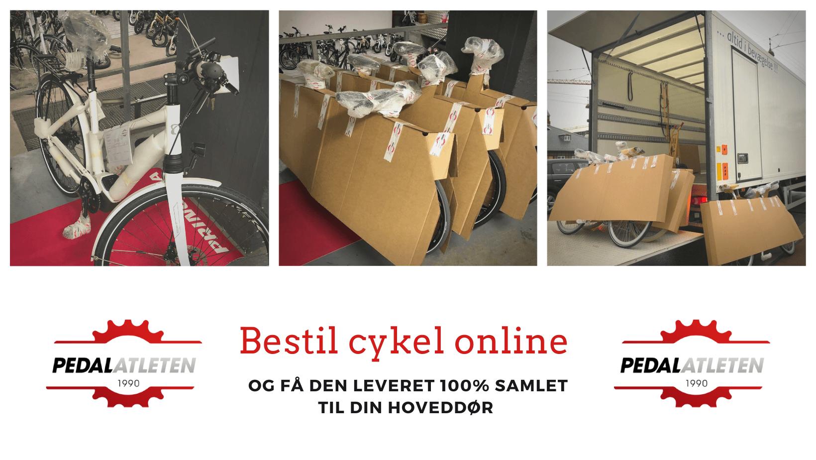 Bestil cykel på Pedalatleten.dk og få den leveret 100% køreklar